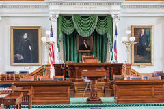 Senate Chamber in Texas State Capitol in Austin, TX stock photos