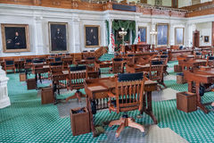 Senate Chamber in Texas State Capitol in Austin,  TX Stock Images