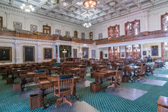 Senate Chamber in Texas State Capitol in Austin, TX royalty free stock photography