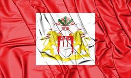 Senate of Hamburg Flag, Germany. Royalty Free Stock Images