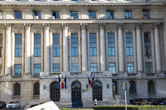 Senate Palace. The former headquarters of the Central Committee of the RCP is a building in Revolution Square in Bucharest. History of the palace started in royalty free stock images