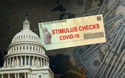 Senate s 2.2 Trillion Stimulus Billchecks from government US 100 dollar bills currency Global pandemic Covid 19 lockdown
