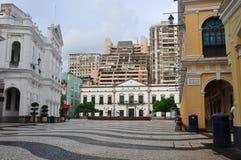 Senate square. The senate square in Macau,photo taken in Juneï,2011 Stock Photos