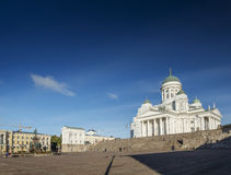 Senate square and city cathedral in helsinki finland Royalty Free Stock Image