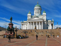 Senate Square, Helsinki, Finland. Historical center of the Finnish capital in a summer day stock images