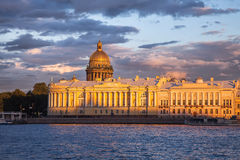 Senate and Synod building, Saint Isaac's Cathedral, St. Petersbu Stock Photos