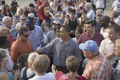 Senator Barak Obama som delta i en kampanj för president Royaltyfria Foton