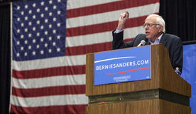 Senator Bernie Sanders. MADISON, WI/USA - July 1, 2015: U.S. Senator Bernie Sanders (Independent -Vermont) speaks at a presidential campagin rally in Madison Stock Image