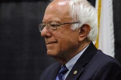 Senator Bernie Sanders - Modesto, CA presskonferens arkivfoto