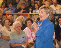 Senator Clinton laughing. At a campaign stop in Iowa Stock Images