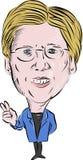 Senator Elizabeth Ann Warren Democrat vector illustratie