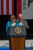 Senator Feinstein and California Governor Jerry Brown at 20th Annual Lake Tahoe Summit 17 Royalty Free Stock Photos