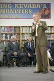 Senator Harry Reid speaking at the Ralph Cadwallader Middle School, Las Vegas, NV Stock Image