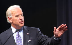 Senator Joe Biden. Democratic Vice-Presidental Candidate, Joe Biden, at a Town Hall Meeting. August 2008 at Virginia Beach Stock Photos