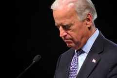 Senator Joe Biden. Democratic Vice-Presidental Candidate, Joe Biden, at a Town Hall Meeting. August 2008 at Virginia Beach Stock Image