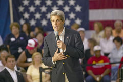 Senator John Kerry. Addressing audience of seniors at the Valley View Rec Center, Henderson, NV Stock Image