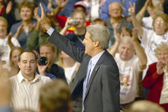 Senator John Kerry addresses audience of supporters at a southern Ohio high school gymnasium in 2004 Royalty Free Stock Images