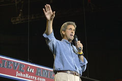 Senator John Kerry addresses audience of supporters at the Thomas Mack Center at UNLV, Las Vegas, NV Stock Photos