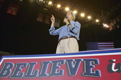 Senator John Kerry addresses audience of supporters at the Thomas Mack Center at UNLV, Las Vegas, NV Stock Images
