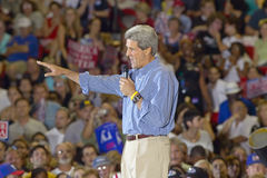 Senator John Kerry addresses audience of supporters at the Thomas Mack Center at UNLV,  Las Vegas, NV Stock Image