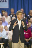 Senator John Kerry addressing audience of seniors at the Valley View Rec Center, Henderson, NV Stock Photo