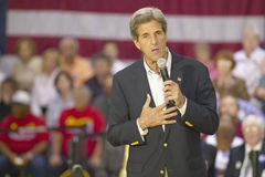 Senator John Kerry addressing audience of seniors at the Valley View Rec Center, Henderson, NV Stock Images