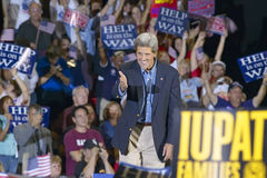 Senator John Kerry greets audience of supporters at the Thomas Mack Center at UNLV,  Las Vegas, NV Royalty Free Stock Image