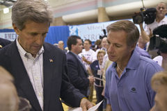 Senator John Kerry interacting with attendees at the Valley View Rec Center, Henderson, NV Stock Photos