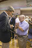 Senator John Kerry interacting with senior at the Valley View Rec Center, Henderson, NV Stock Photography