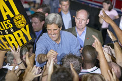 Senator John Kerry shakes hands with supporters at the Thomas Mack Center at UNLV, Las Vegas, NV Royalty Free Stock Photo
