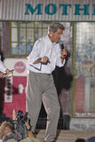 Senator John Kerry speaking from stage at outdoor Kerry Campaign rally, Kingman, AZ Royalty Free Stock Photo