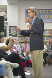 Senator John Kerry speaking to audience at the Ralph Cadwallader Middle School, Las Vegas, NV Royalty Free Stock Photography