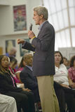 Senator John Kerry speaking to audience at the Ralph Cadwallader Middle School, Las Vegas, NV Stock Photography