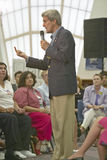 Senator John Kerry speaking to audience at the Ralph Cadwallader Middle School, Las Vegas, NV Stock Photo