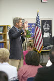 Senator John Kerry speaking to audience at the Ralph Cadwallader Middle School, Las Vegas, NV Stock Images