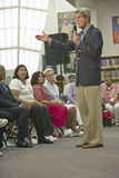 Senator John Kerry speaking to audience at the Ralph Cadwallader Middle School, Las Vegas, NV Stock Image
