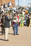 Senator John Kerry speaks from microphone at 83rd Intertribal Indian Ceremony, Gallup, NM Stock Image