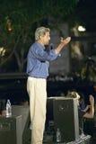 Senator John Kerry speaks from stage of Believe in America campaign tour, Kingman, AZ Stock Photography