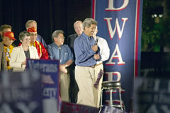 Senator John Kerry speaks from stage of Believe in America campaign tour, Kingman, AZ Royalty Free Stock Image