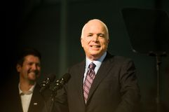 Senator John McCain Horizontal Smiling 2 Royalty Free Stock Images