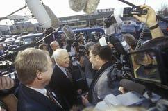 Senator John McCain during Republican primaries in Concord, NH, 2000 Stock Photos