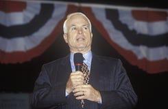 Senator John McCain speaking at Presidential Youth Forum at Anselm College, NH, January 2000 Royalty Free Stock Photos