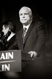 Senator John McCain Vertical B&W Royalty Free Stock Photos