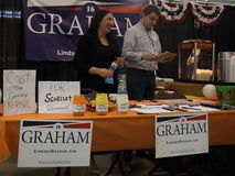 Senator Lindsey Graham's table with supporters Stock Images