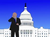 Senator on phone. Senator talking on phone at capitol hill Washington DC royalty free illustration