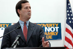 Senator Rick Santorum Stock Photo