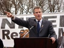 Senator Scott Brown at the Protest Stock Photo