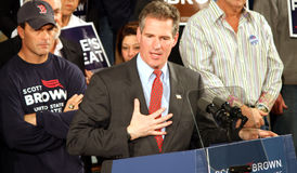 Senator Scott Brown sincere gesture Royalty Free Stock Image