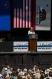 Senatora Reid mówienie przy 20th Rocznym Jeziornym Tahoe szczytem Fotografia Stock