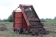 Senatorial. Agricultural machine for gathering hay into haycocks,ricks Stock Photography